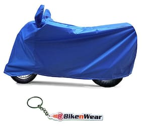 Water Proof Body Cover For Hero Splendor Plus- blue with key chain