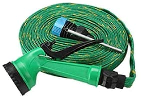 Water Spray Gun 10 m Hose Pipe- House;Garden & Car Wash Hose Pipe