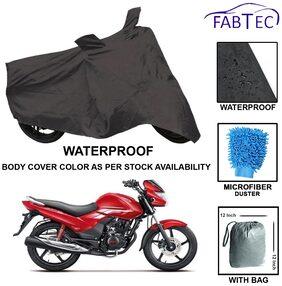 Waterproof Bike Body Cover For Hero Achiver With Free Microfiber Glove & Storege Bag