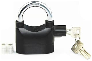 Waterproof Siren Alarm for Motorcycle Bike Bicycle Perfect Security with Padlock Safety Lock  (Black)