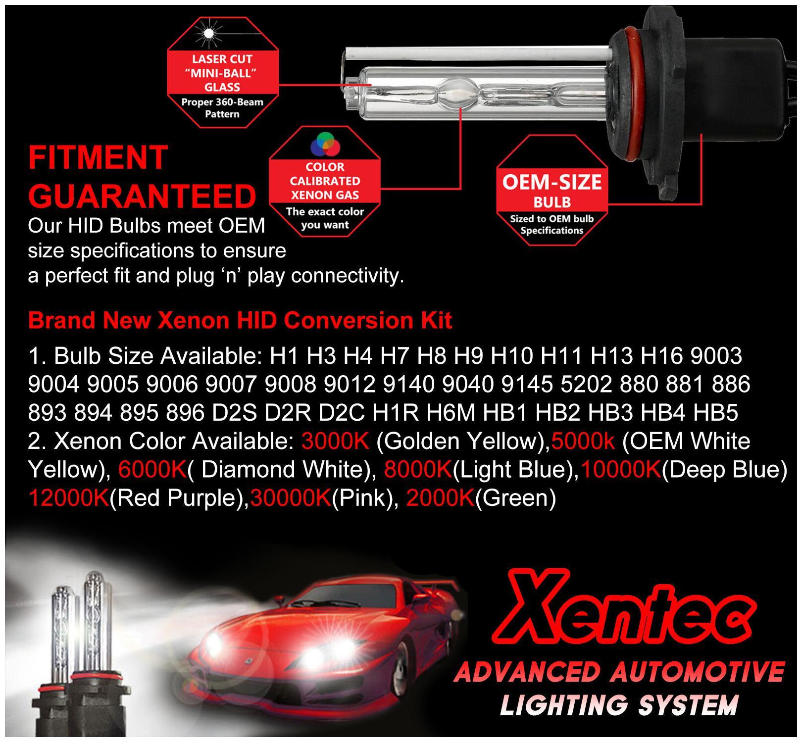 XENTEC hid slim kit bulbs ballast hi//lo 9006 9004 H1 H7 H11 880 H4 H13 9007 9005