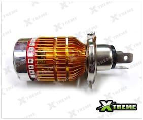 Xtreme-In White 3 Cree Led Headlight With Multi Color Flashing Ring H4 Bulb For Yamaha Yzf R1