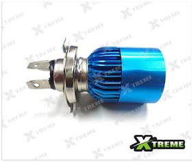 Xtreme-In White 3 Cree Led Blue Headlight H4 Hid Bulb (B) For Hero Motocorp Glamour