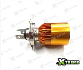 Xtreme-In White 3 Cree Led Golden Headlight H4 Hid Bulb (G) For Bajaj Discover 125 M
