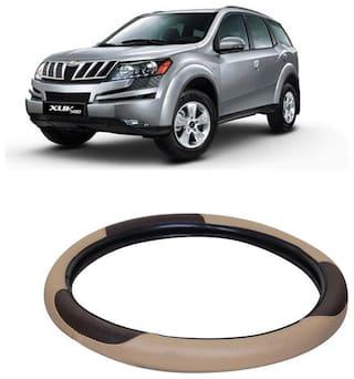 XUV 500 Beige&Black Steering Cover