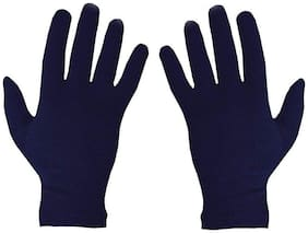 Yashinika 2 Piece Cotton Full Hand Protective Gloves Set for Men and Women - Blue