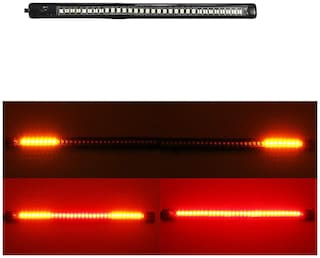 Yashinika Universal License Plate LED Light Strip with 48 SMD LEDs for Brake Stop Turn Signal - 8 inch;DC 12V;3M Adhesive for Hero All Bike Models