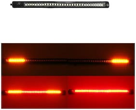 Yashinika Universal License Plate LED Light Strip with 48 SMD LEDs for Brake Stop Turn Signal - 8 inch;DC 12V;3M Adhesive for Yamaha All Bike Models