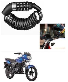 Znee Smart Motorbike & Bicycle Lock 4 Digit  Anti-Theft Bike Lock Cycling Helmet Code Combination  Cable Lock For Bajaj Discover