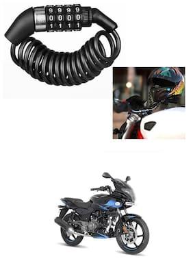 Znee Smart Motorbike & Bicycle Lock 4 Digit  Anti-Theft Bike Lock Cycling Helmet Code Combination  Cable Lock For Bajaj Pulsar 220 F