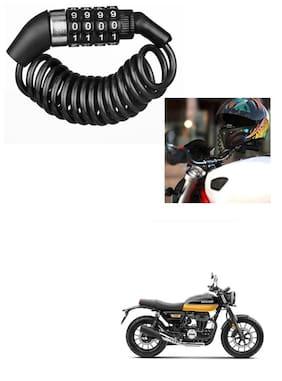 Znee Smart Motorbike & Bicycle Lock 4 Digit  Anti-Theft Bike Lock Cycling Helmet Code Combination  Cable Lock For Honda CB350RS