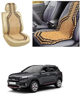 Znee Smart Premium Car Wooden Accupressure Design Bead Seat Cover Pack of 1 for Kia Seltos