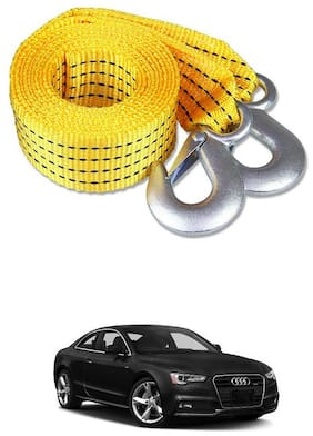 Znee Smart Premium Heavy Duty 4M Long Tow Belt  Car Tow Cable 3 Ton Towing Strap Rope with Dual Heavy Duty Forged Hooks For Audi A5