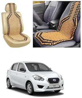Znee Smart Premium Car Wooden Accupressure Design Bead Seat Cover Pack of 1 for Datsun Go