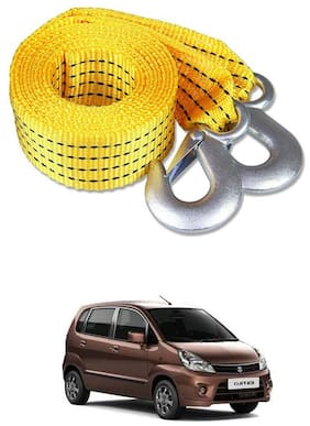 Znee Smart Premium Heavy Duty 4M Long Tow Belt  Car Tow Cable 3 Ton Towing Strap Rope with Dual Heavy Duty Forged Hooks For Maruti Suzuki Zen Estilo