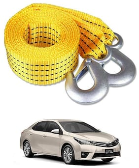 Znee Smart Premium Heavy Duty 4M Long Tow Belt  Car Tow Cable 3 Ton Towing Strap Rope with Dual Heavy Duty Forged Hooks For Toyota Altis