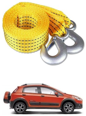 Znee Smart Premium Heavy Duty 4M Long Tow Belt  Car Tow Cable 3 Ton Towing Strap Rope with Dual Heavy Duty Forged Hooks For Fiat Avventura