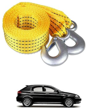 Znee Smart Premium Heavy Duty 4M Long Tow Belt  Car Tow Cable 3 Ton Towing Strap Rope with Dual Heavy Duty Forged Hooks For Chevrolet Optra SRV