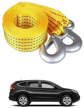 Znee Smart Premium Heavy Duty 4M Long Tow Belt  Car Tow Cable 3 Ton Towing Strap Rope with Dual Heavy Duty Forged Hooks For Honda CR-V