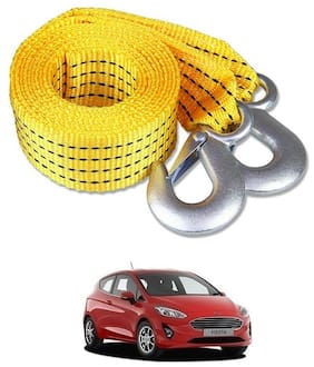 Znee Smart Premium Heavy Duty 4M Long Tow Belt  Car Tow Cable 3 Ton Towing Strap Rope with Dual Heavy Duty Forged Hooks For Fiat Fiesta