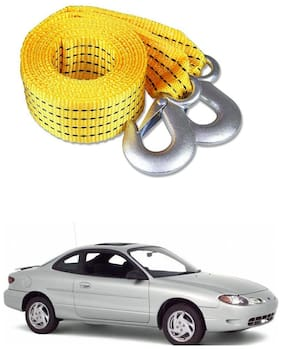Znee Smart Premium Heavy Duty 4M Long Tow Belt  Car Tow Cable 3 Ton Towing Strap Rope with Dual Heavy Duty Forged Hooks For Ford Escort