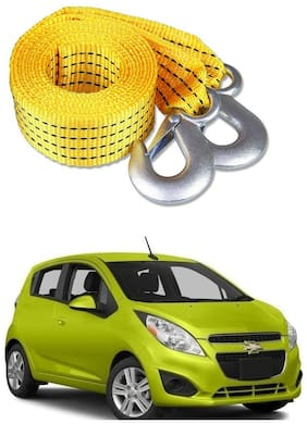 Znee Smart Premium Heavy Duty 4M Long Tow Belt  Car Tow Cable 3 Ton Towing Strap Rope with Dual Heavy Duty Forged Hooks For Chevrolet Spark