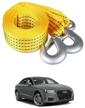 Znee Smart Premium Heavy Duty 4M Long Tow Belt  Car Tow Cable 3 Ton Towing Strap Rope with Dual Heavy Duty Forged Hooks For Audi A3