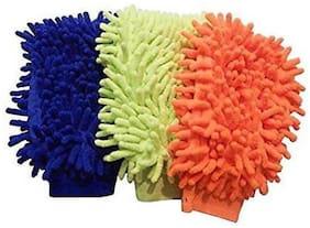 zukunft fashion microfibre hand glove wet and dry glove set