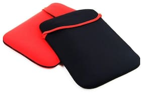 39.62 cm (15.6 inch) Laptop Sleeve Bag Cover Reversible - Black & Red