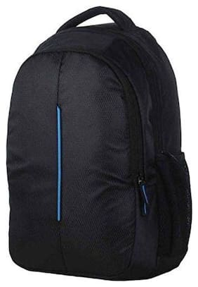 bjird Black Polyester Laptop backpack