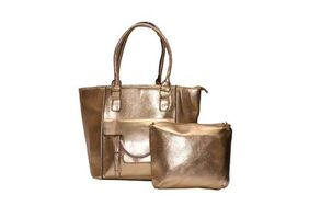 Senora Women's Tote+ Pouch (Colour- Gold)
