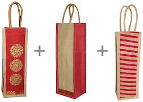 A&A Unisex Textured Jute - Tote Bag Multi