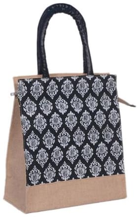 ABV Traders Women Solid Fabric - Tote Bag Black