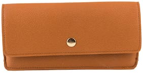 Accezory Women Brown Artificial Leather Wallet (6 Card Slots)