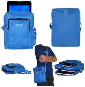 ACM Blue Canvas Messenger bag