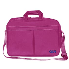 "Acm Executive Office Padded Laptop Bag for Lenovo G50-80 80e503c9ih 15.6"" Laptop Pink"