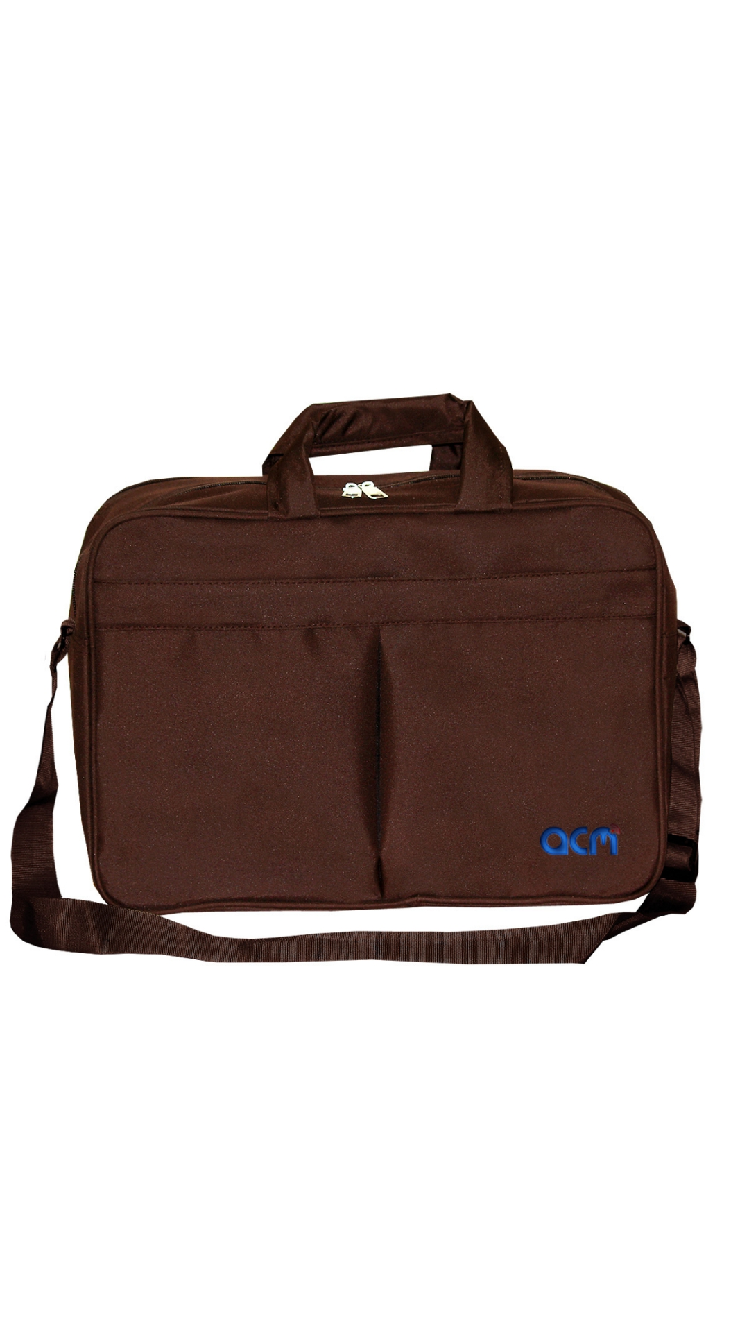 """Acm Executive Office Padded Laptop Bag for Lenovo Ideapad 100 15iby 80mj00paih 15.6"""" Laptop Brown Image"""