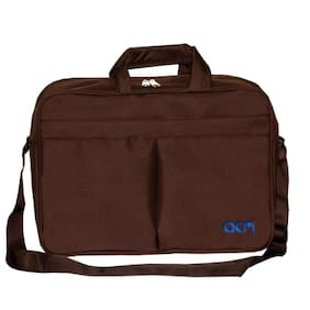 "Acm Executive Office Padded Laptop Bag for Lenovo Ideapad 500 80nt00pain 15.6"" Laptop Brown"
