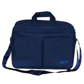 "Acm Executive Office Padded Laptop Bag for Lenovo Ideapad 500 80nt00pain 15.6"" Laptop Blue"