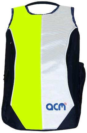 ACM 15 ltr Green Canvas Laptop backpack