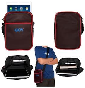 ACM Maroon Leather Messenger bag
