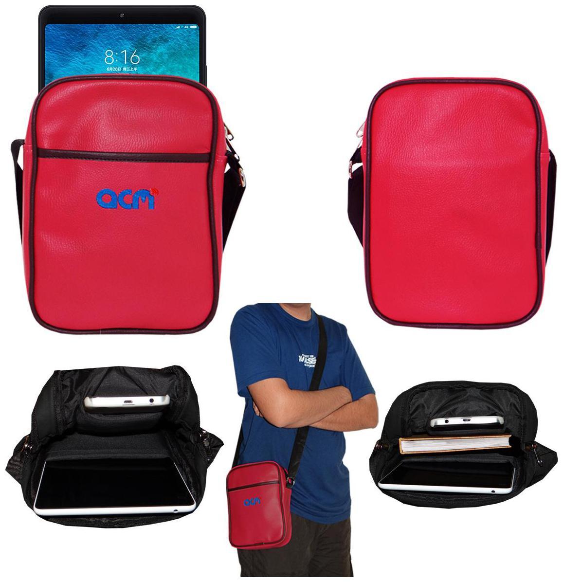Acm Premium Soft Padded Shoulder Sling Bag for Xiaomi Mi Pad 4 Carrying Case Dark Pink