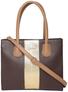 Addons Women Solid Pu - Tote Bag Brown