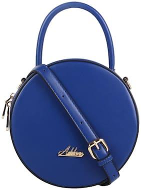 Addons Blue PU Solid Sling Bag