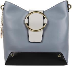 Addons PU Women Hobo Bag - Blue