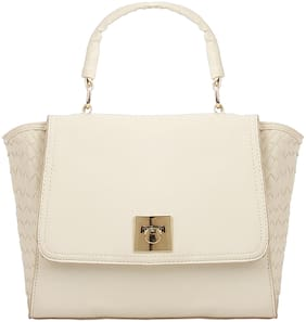 Addons PU Women Satchel - White