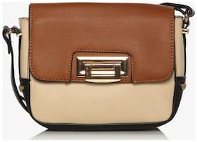 Addons Women Solid PU - Sling Bag Brown