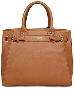 Addons PU Women Satchel - Tan