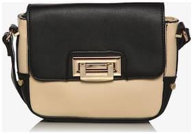 Addons Women Solid PU - Sling Bag Black