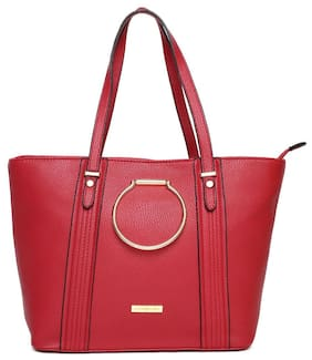 Addons Women Solid Pu - Tote Bag Red